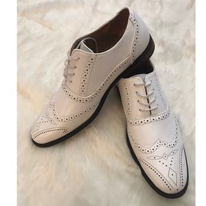 Oxford Wing Tip Shoes White Size 11